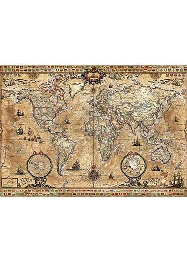 Educa Educa 1000 Parça Puzzle Antique World Map Renkli